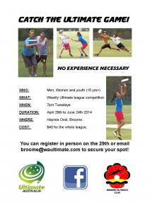 Broome League Flyer